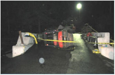 fatal forklift accident, fork lift tipped over crushing driver