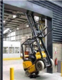 forklift crash overhead obstruction accident